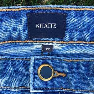 Khaite Alissa raw hem cropped skinny jean